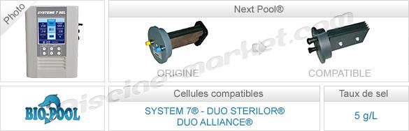 Cellules compatibles électrolyseurs System 7 Duo Sterilor