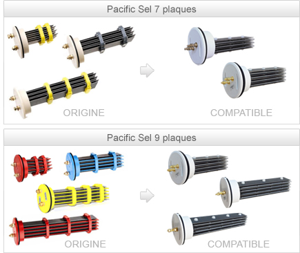 Cellules compatibles Pacific sel, Magiline sel, Alpina, JD sel, Energy sel, Euro sel
