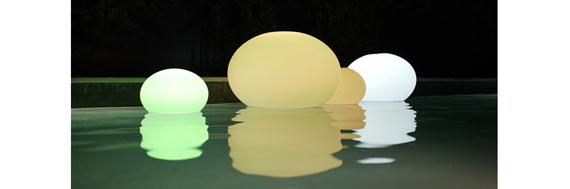Lampe led piscine flottante