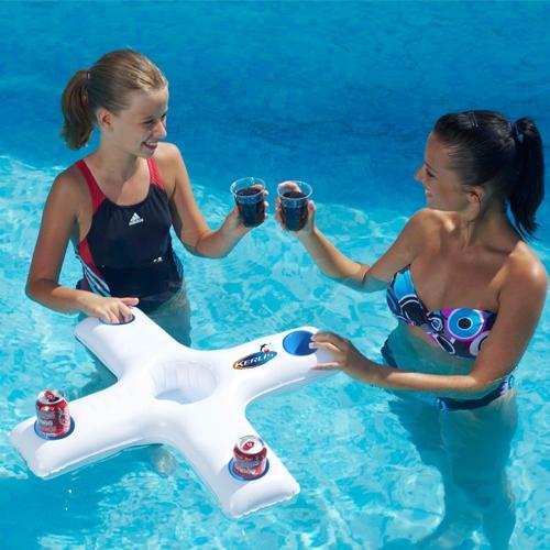 Mini bar flottant piscine market for Chauffage piscine flottant