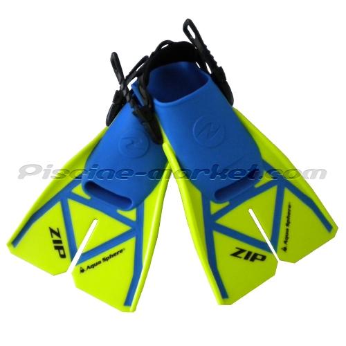 palmes de natation zip jaune bleu la paire piscine market