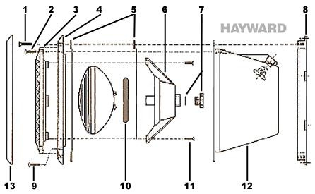 Pièces Détachées Projecteur 300W HAYWARD