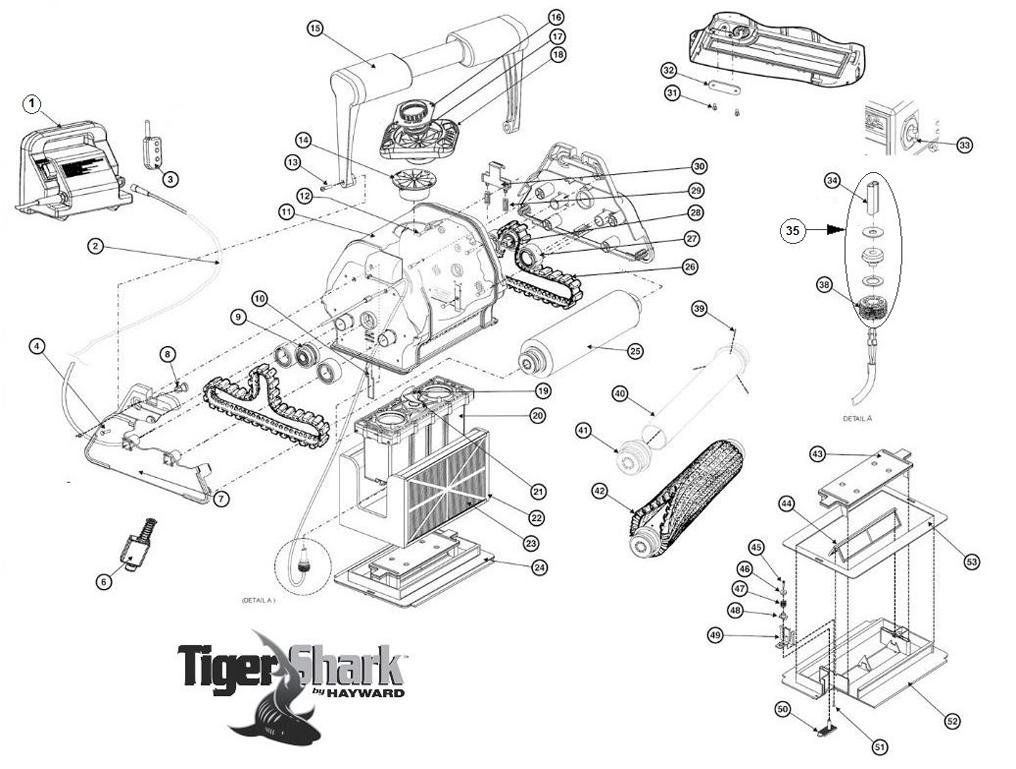 Pièces robot piscine HAYWARD TigerShark