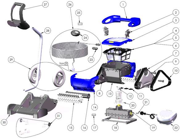 Piscine market for Robot piscine zodiac rc 4400