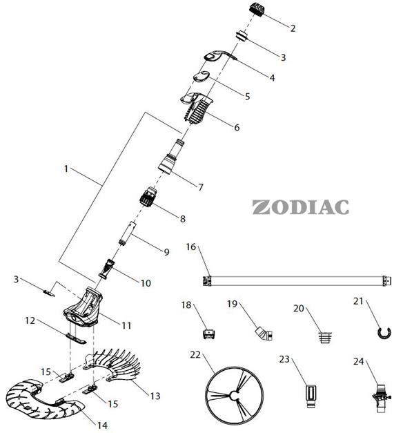 Pièces ZODIAC T5 DUO