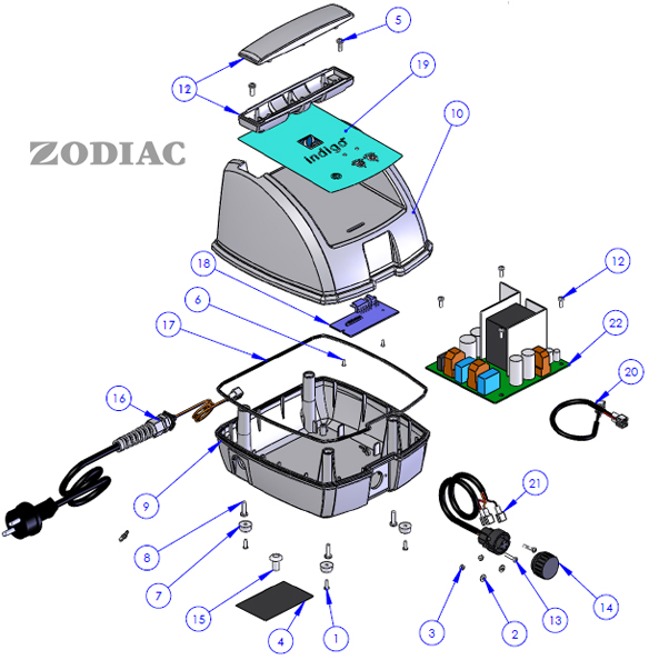 Zodiac pieces detachees zodiac piece detache sur for Pieces detachees robot piscine zodiac