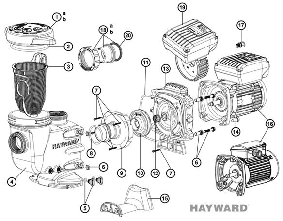 pièces pompe hayward maxflo 2