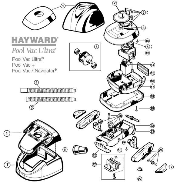 pièces robot pool vac hayward