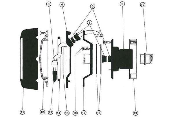 Pièces projecteur halogène 100W COFIES